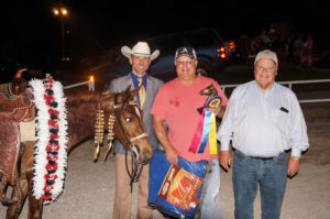 Amateur Champion, Party Central with owners Darrell Lindsey and Rick Brown and exhibitor, Jarrod O Freeman